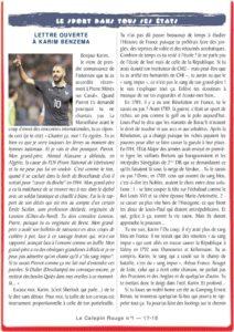 thumbnail of Lettre ouverte à Karim Benzema
