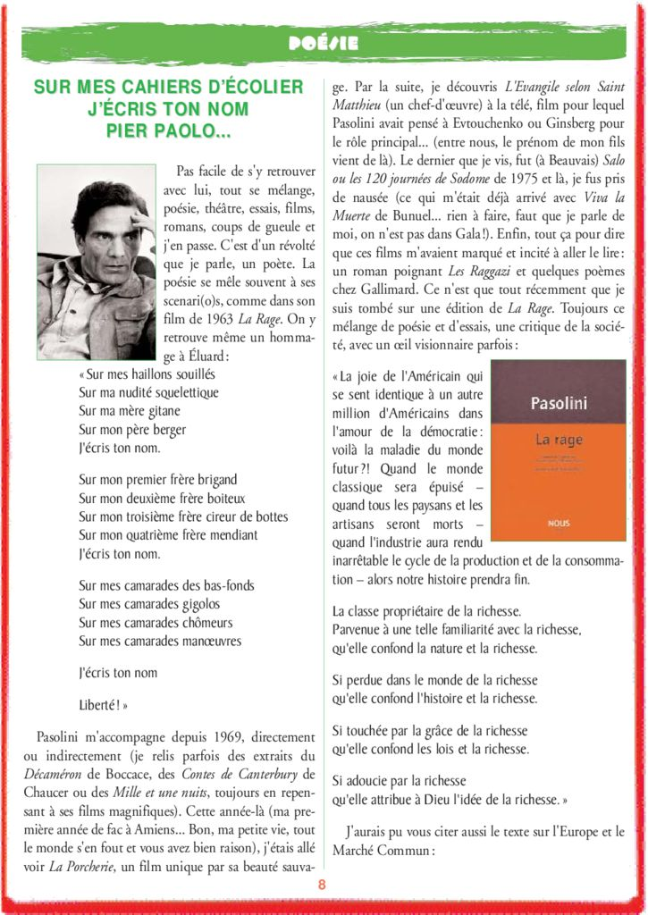 thumbnail of le_calepin_rouge_n°6.pasolini