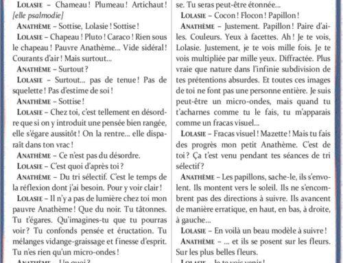 Anathème et Lolasie – Michel Lalet