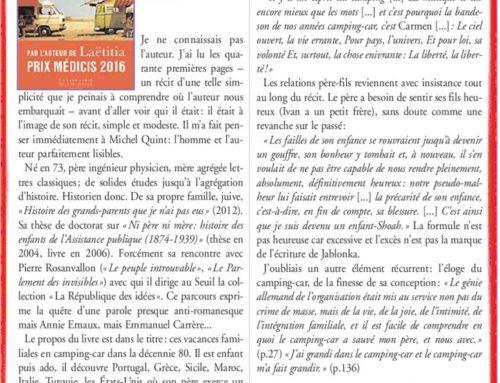 UN RÉCIT D'APPRENTIS D'APPRENTISSAGE – IVAN JABLONKA