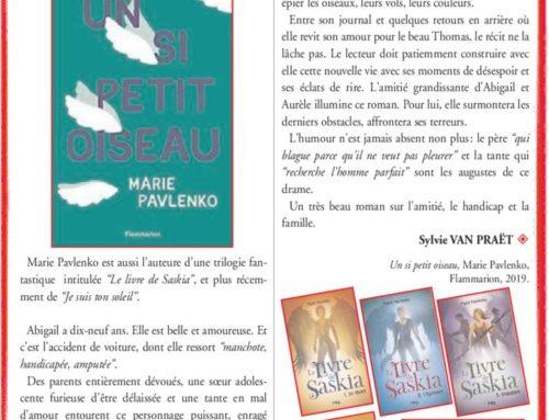 MARIE PAVLENKO – « UN SI PETIT OISEAU »