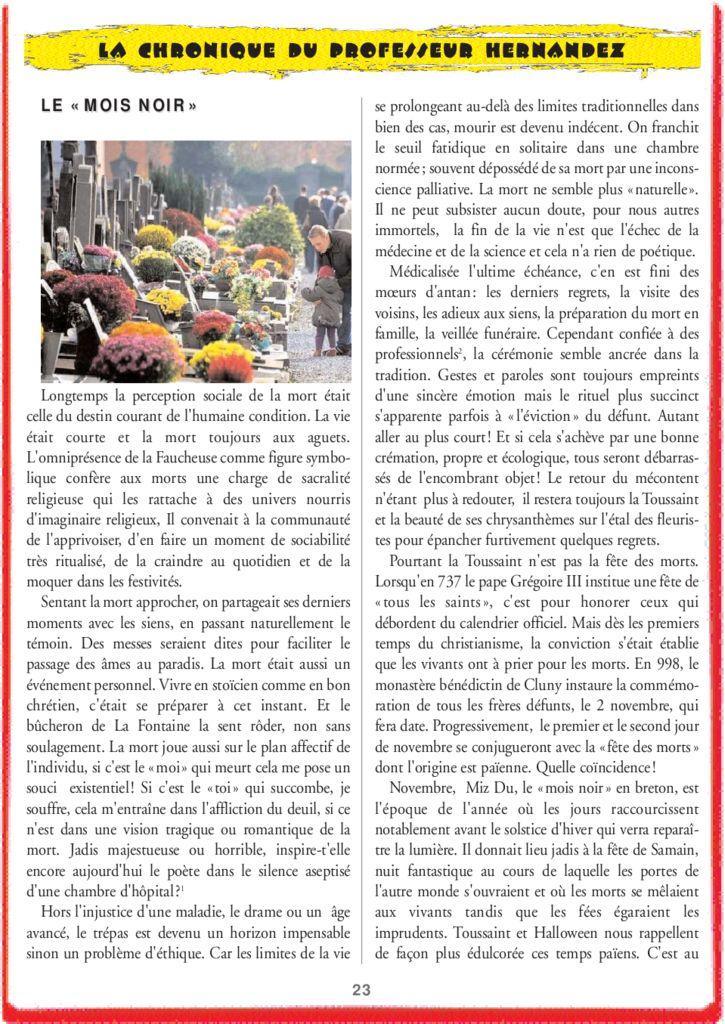 thumbnail of Le Mois Noir – la chronique du professeur hernandez