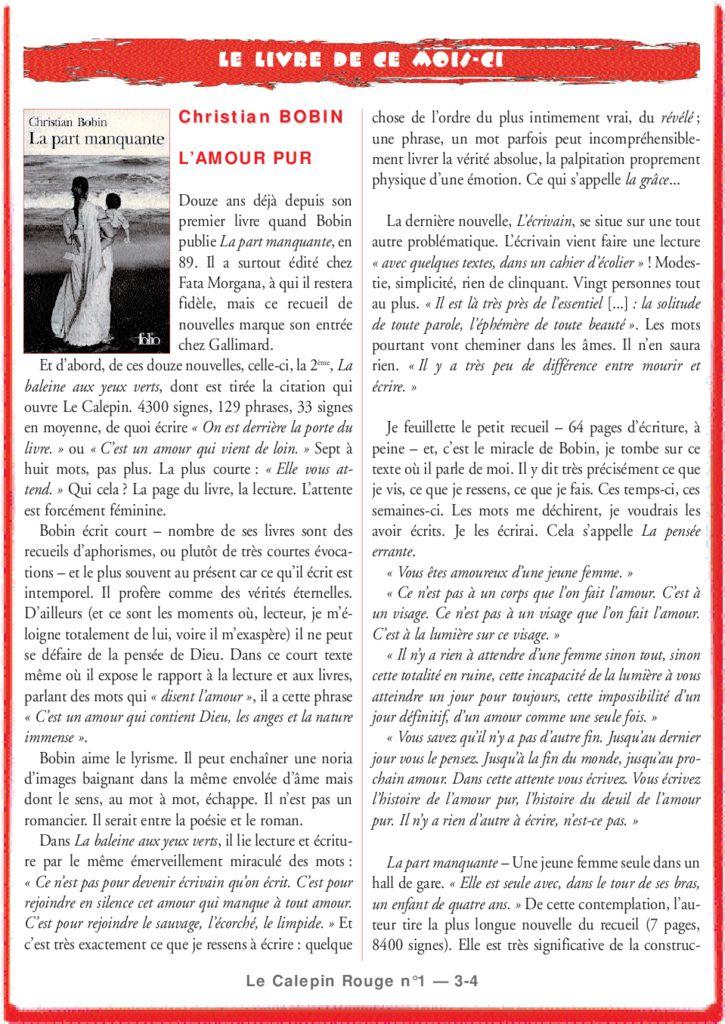 thumbnail of l'amour pur – christian Bobin