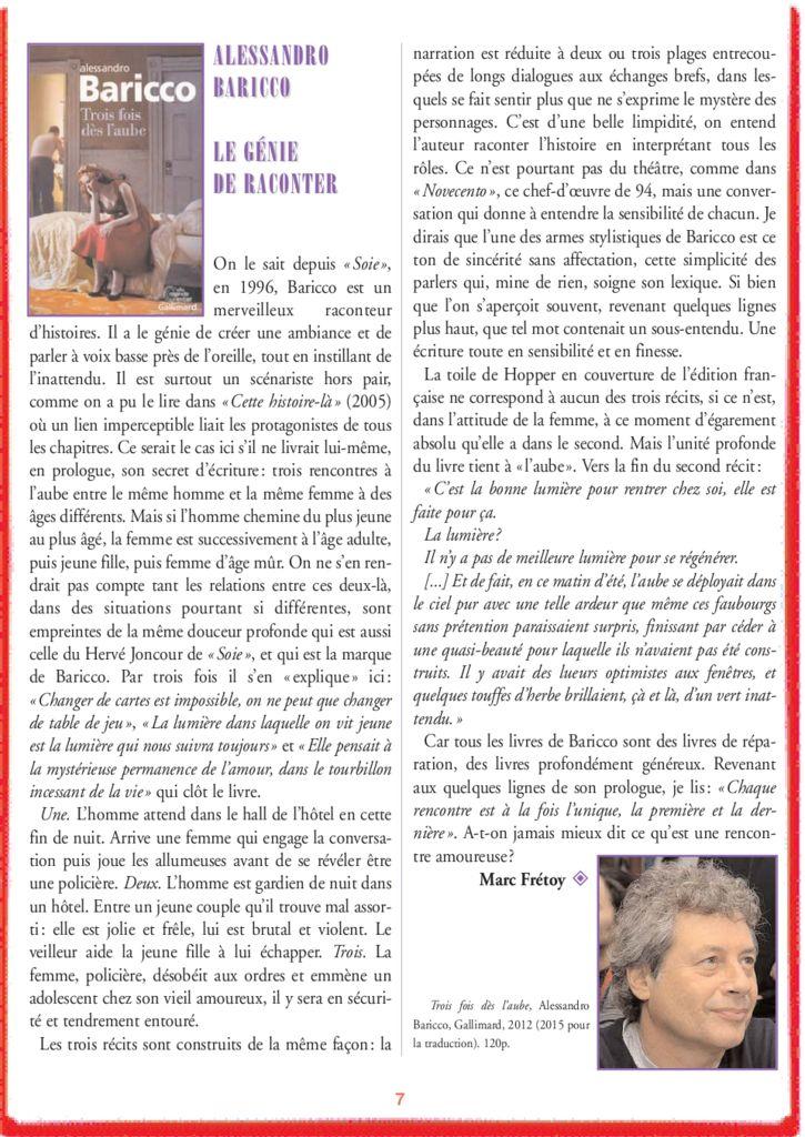 Alessandro Baricco – Le Génie de Raconter
