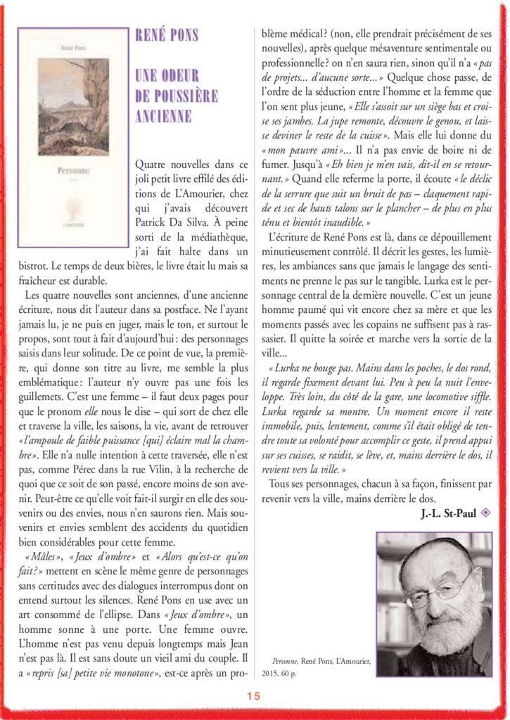 René Pons – Une odeur de poussière ancienne