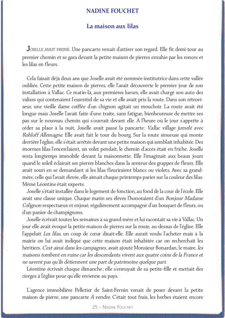 La maison aux lilas – Nadine Fouchet