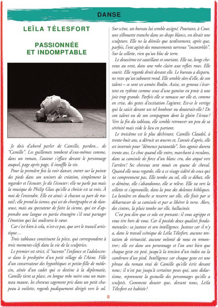 PASSIONNÉE ET INDOMPTABLE – LEÏLA TÉLESFORT